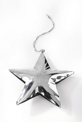 8 Silver hanging star
