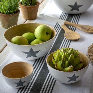 30 Bamboo star bowls