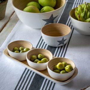 31 Bamboo dipping bowls