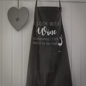 36 Cooking with wine apron