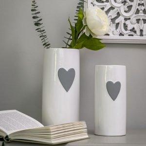 40 Grey heart ceramic heart